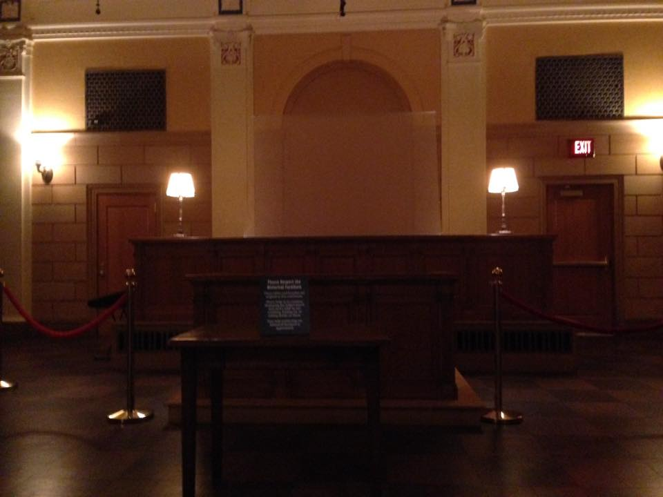 The Mob Museum Courtroom Experience