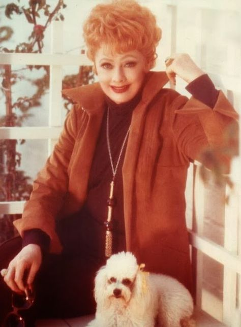 Lucille Ball & Her Poodle, Image Source: https://www.pinterest.com/pin/230528074655736139/